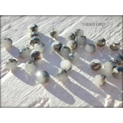 Perles Abacus 3 mm Grey AB X 50