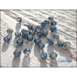 Perles Abacus 3 mm Silver Blue AB X 50