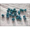 Perles Abacus 3 mm Bleu Paon AB X 50