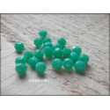 Perles Rondes Facettées 4 mm Green Turquoise X 25