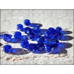 Perles Rondes Facettées 4 mm Cobalt  AB X 25