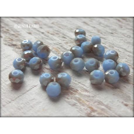 Perles Abacus 4 mm Bleu Pastel X 25
