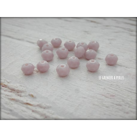 Perles Abacus 4 mm Light Mauve X 25