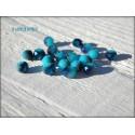 Perles Rondes Facettées 4 mm Bleu Ciel AB X 25