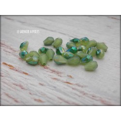 Gouttes 5 x 2 mm Light Olivine AB X 25