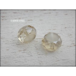 Perle Palet 12 mm Champagne X 2