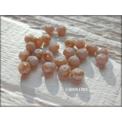Perles Abacus 3 mm Lila Jade AB X 50