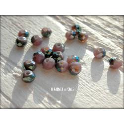 Perles Abacus 3 mm Violet AB X 50