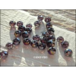 Perles Abacus 3 mm Amethyst AB X 50