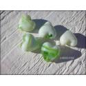 Perle COEUR 12 mm VERT