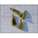 Petit Pompon ( fils de coton ) Vert Olive