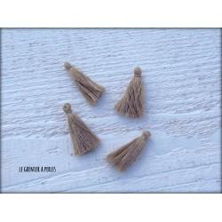 Petits Pompons ( fils de coton ) Sable X 4