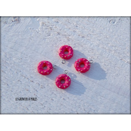 Breloques Donut X 4