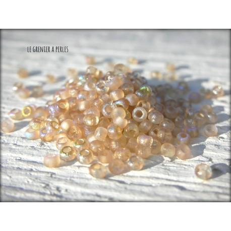 Rocailles MIYUKI 11/0 Etched Crystal Lemon Rainbow ( 98584 )