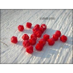 Toupies 4 mm Red Opaque X 50