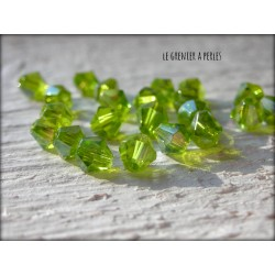 Toupies 4 mm Olivine X 50