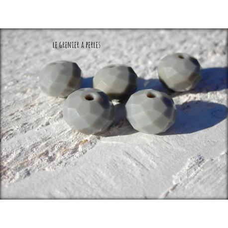 Perles ABACUS 10 mm Grey Jade Opal x 5