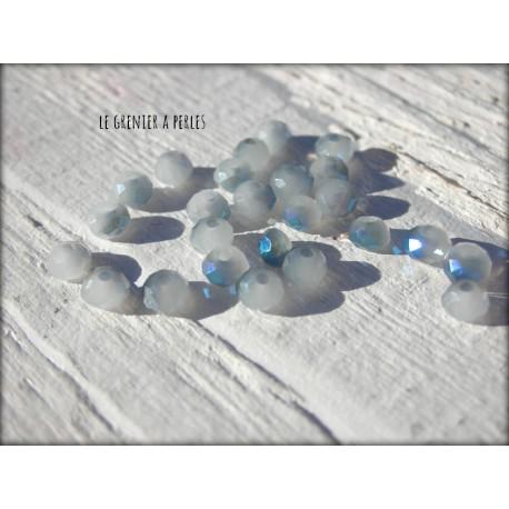 Perles Abacus 3 mm Grey Blue AB X 50