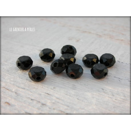 Perle Palet 6 mm Noir X 10