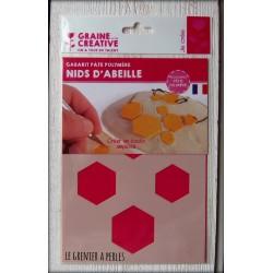 "Gabarit ""Nids d'abeille"" ( Gabarit Pâte Polymère )"