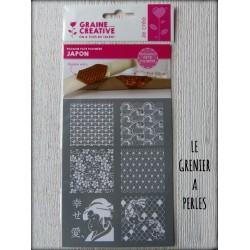 "Pochoir Pâte Polymère "" JAPON """