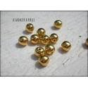 Perles Rondes 6 mm Doré X 10