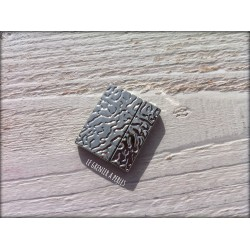 Fermoir magnétique ( aimanté ) Argenté 27 x 23 mm