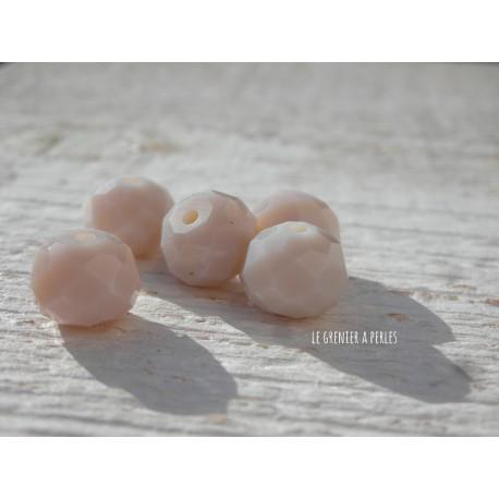 Perles ABACUS 10 mm JADE PORCELAINE x 5