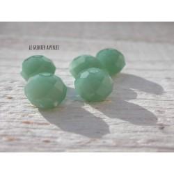 Perles ABACUS 10 mm Vert Turquoise Opal x 5