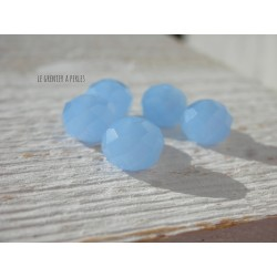Perles ABACUS 10 mm Sapphire Opal x 5