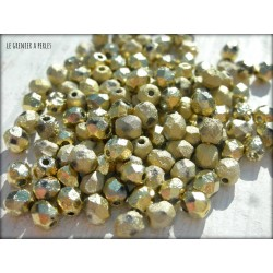 Facettes 4 mm ETCHED CRYSTAL AMBER FULL ( 26480 )