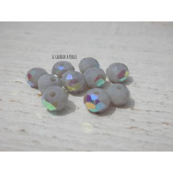 Perles Abacus 6 mm Light Grey AB X 20