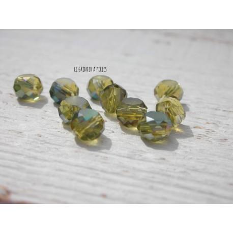 Perle Palet 6 mm Olivine AB X 10