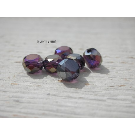 Perle Palet 6 mm Purple AB X 10