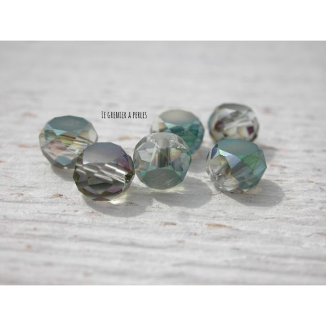 Perle Palet 6 mm Cristal Green X 10