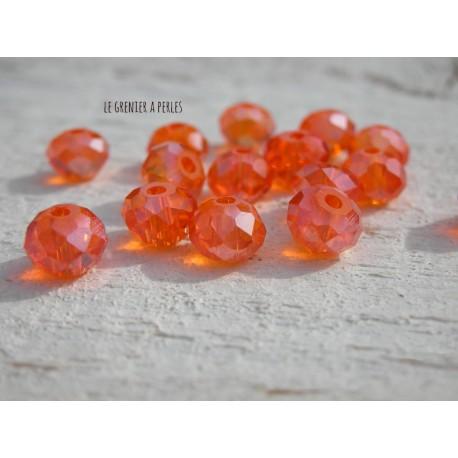Perles Abacus 6 mm Orange AB X 20
