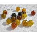 Perles Dragon veins Agate 6 mm X 10 * Ambre