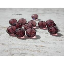 Perles ABACUS 8 mmAmethyst X 10