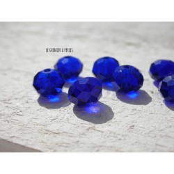 Perles ABACUS 8 mm Bleu Cobalt X 10