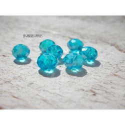 Perles ABACUS 8 mm Turquoise AB X 10