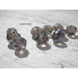 Perles ABACUS 8 mm Light Gris AB X 10