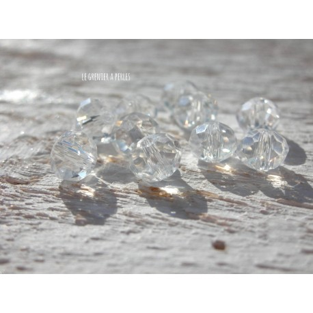 Perles Abacus 6 mm Crystal X 20