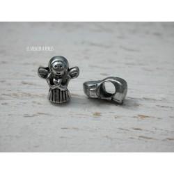 Perle à gros trou  12 x 9 mm Ange
