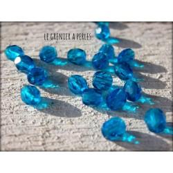 Facettes 4 mm Dark Capri Blue x 50