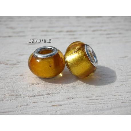 Perle à gros trou  9 x 12 mm Topaz