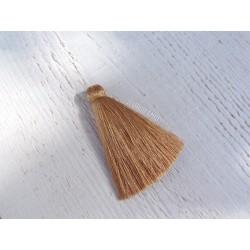 Pompon en fils de coton 65 mm Sable
