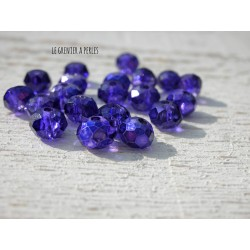 Perles Abacus 6 mm Dark purple Galvanised X 20