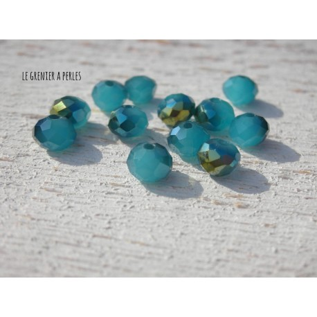 Perles Abacus 6 mm Sapphire AB X 20