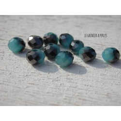 Perles Abacus 6 mm Black Sapphire X 20