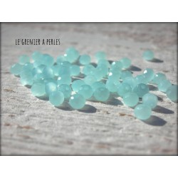 Perles Abacus 3 mm Menthe Glaciale X 50